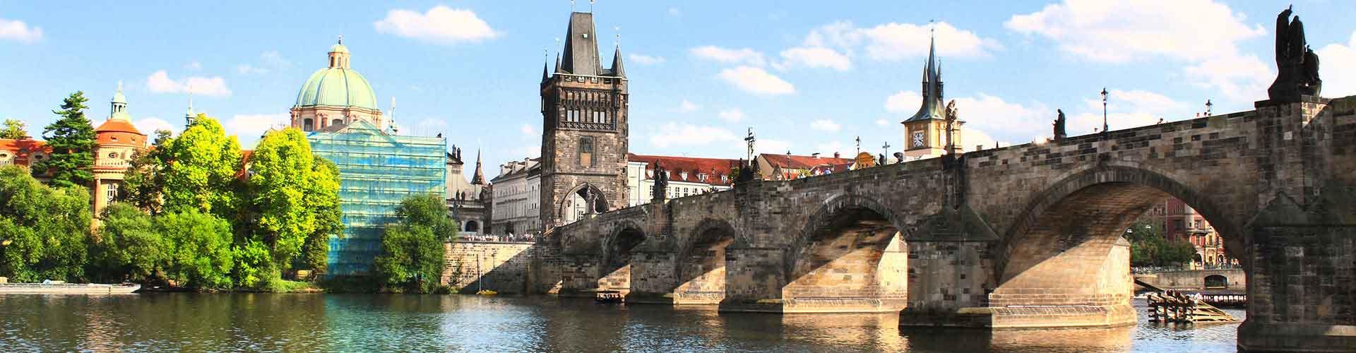 Praga – Albergues próximos a Charles Bridge. Mapas para Praga, Fotos e Avaliações para cada Albergue em Praga.