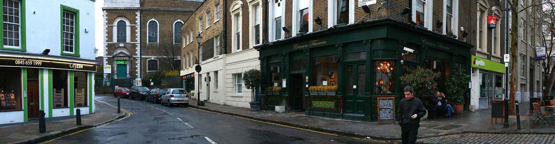 Londres – Albergues no bairro de Clerkenwell . Mapas para Londres, Fotos e Avaliações para cada Albergue em Londres.