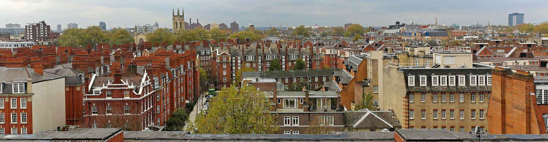 Londres – Albergues no bairro de Sul de Kensington . Mapas para Londres, Fotos e Avaliações para cada Albergue em Londres.