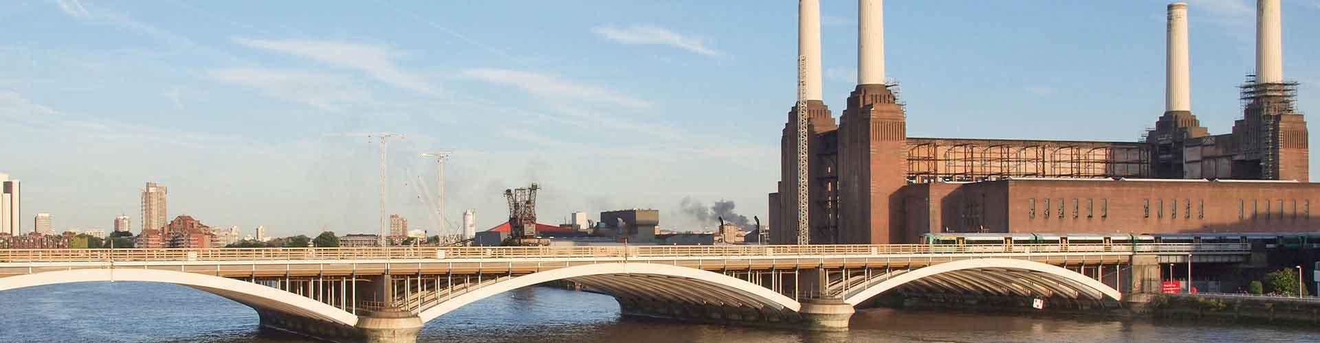Londres – Albergues próximos a Battersea Power Station. Mapas para Londres, Fotos e Avaliações para cada Albergue em Londres.