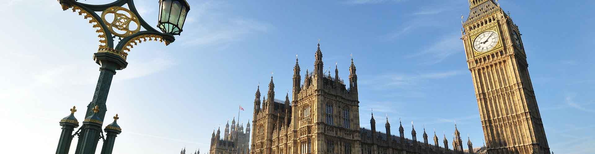 Londres – Albergues próximos a Big Ben. Mapas para Londres, Fotos e Avaliações para cada Albergue em Londres.