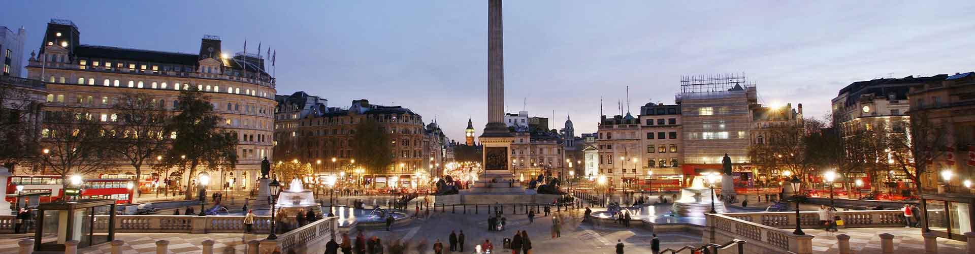 Londres – Albergues próximos a Coluna de Nelson. Mapas para Londres, Fotos e Avaliações para cada Albergue em Londres.