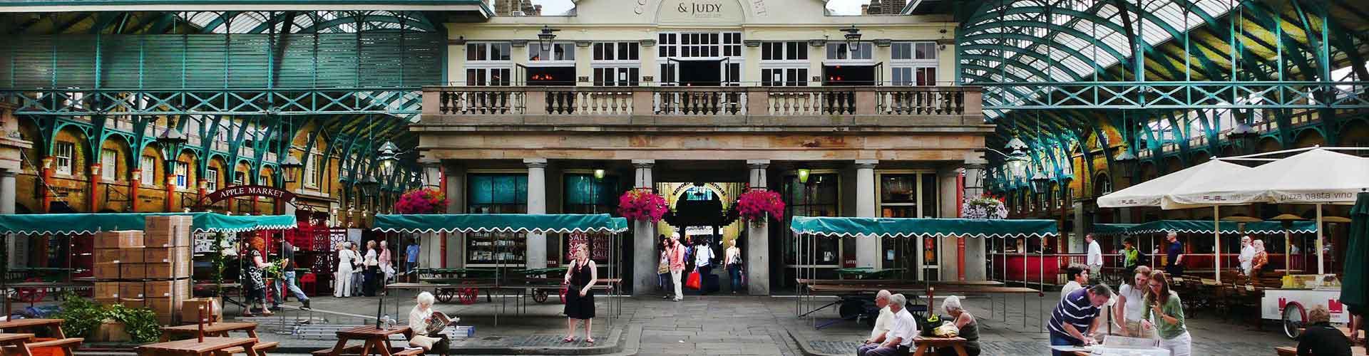Londres – Albergues próximos a Piazza de Covent Garden. Mapas para Londres, Fotos e Avaliações para cada Albergue em Londres.