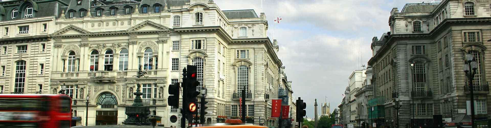 Londres – Albergues próximos a Piccadilly Circus. Mapas para Londres, Fotos e Avaliações para cada Albergue em Londres.