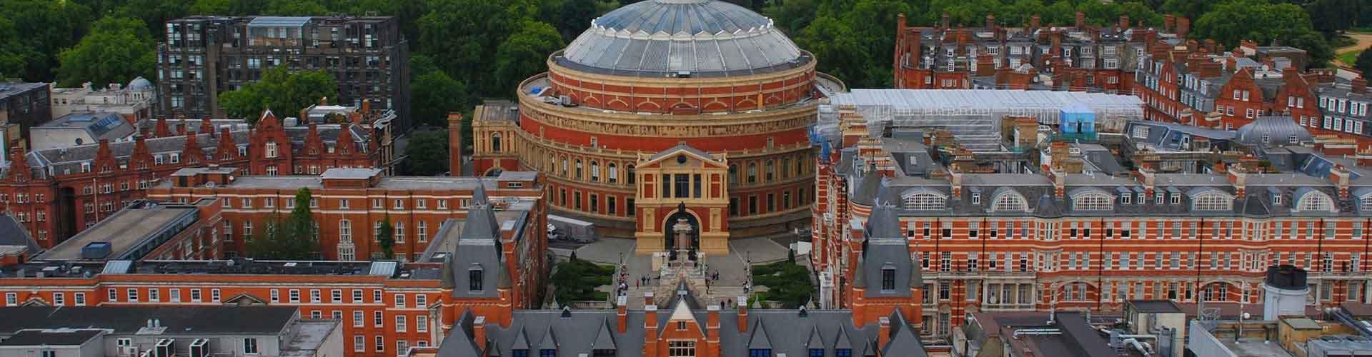 Londres – Albergues próximos a Royal Albert Hall. Mapas para Londres, Fotos e Avaliações para cada Albergue em Londres.