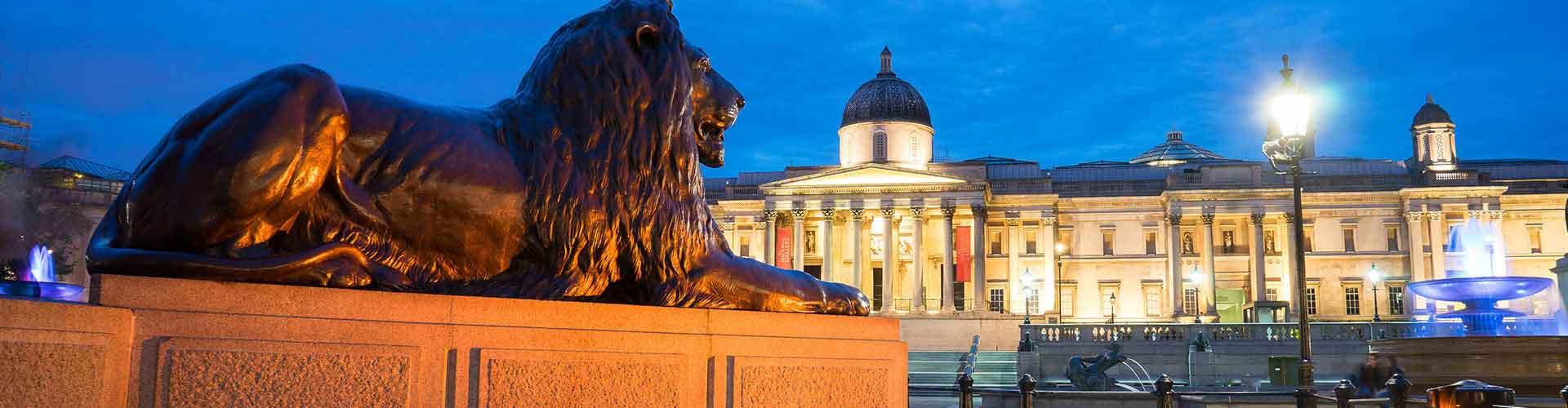 Londres – Albergues próximos a Trafalgar Square. Mapas para Londres, Fotos e Avaliações para cada Albergue em Londres.