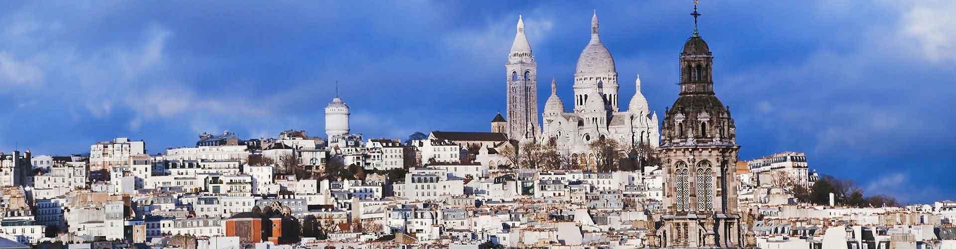 Paris – Albergues no bairro de Montmartre . Mapas para Paris, Fotos e Avaliações para cada Albergue em Paris.