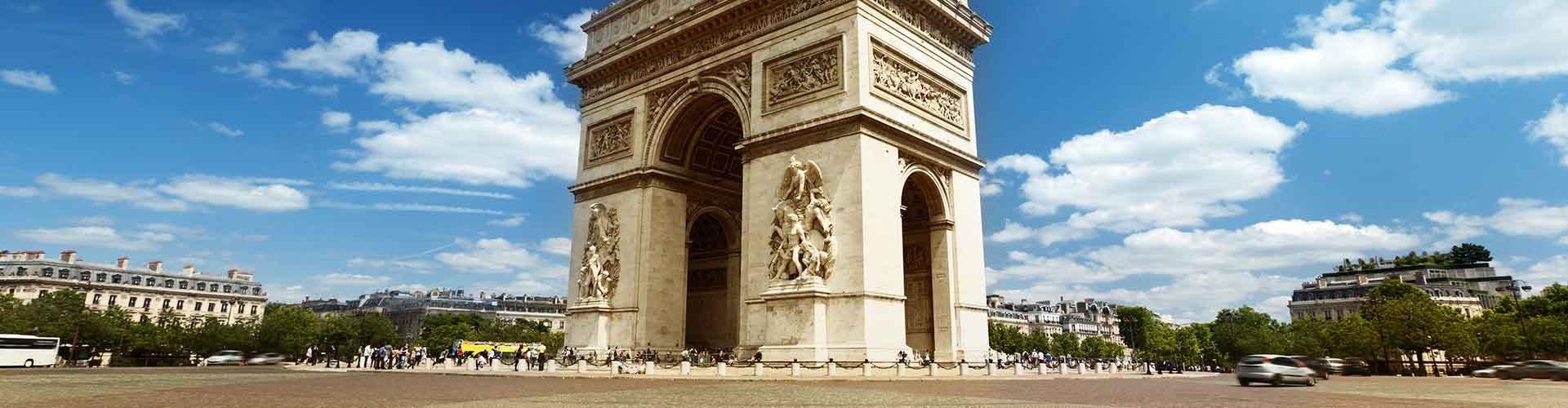 Paris – Albergues próximos a Arc de Triomphe. Mapas para Paris, Fotos e Avaliações para cada Albergue em Paris.