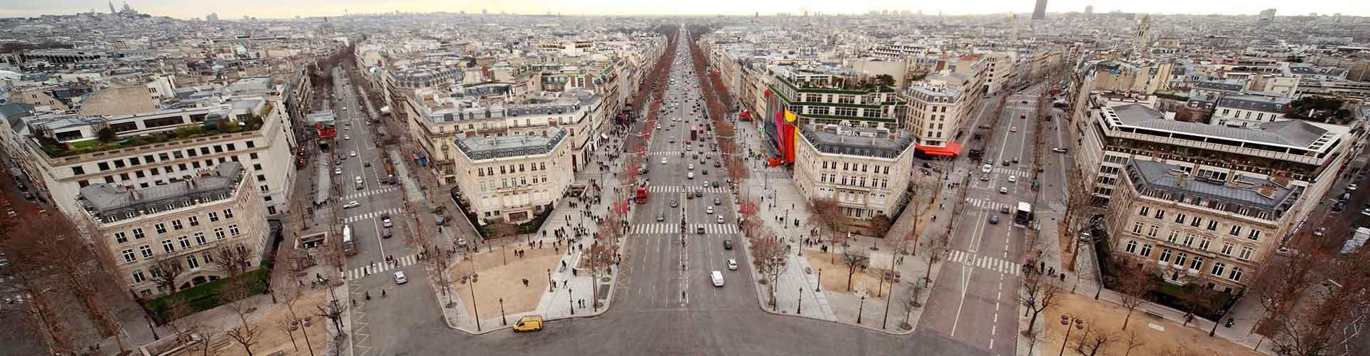 Paris – Albergues próximos a Boulevard Haussmann. Mapas para Paris, Fotos e Avaliações para cada Albergue em Paris.