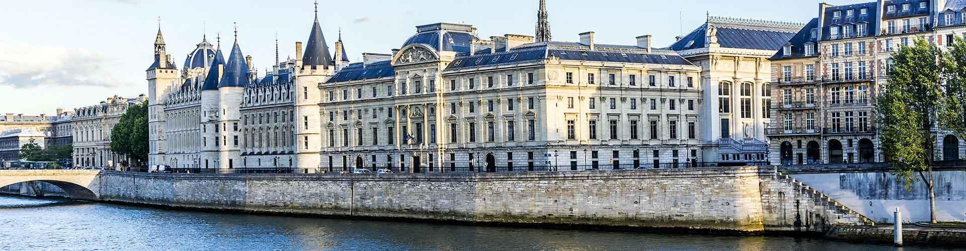 Paris – Albergues próximos a Conciergerie. Mapas para Paris, Fotos e Avaliações para cada Albergue em Paris.