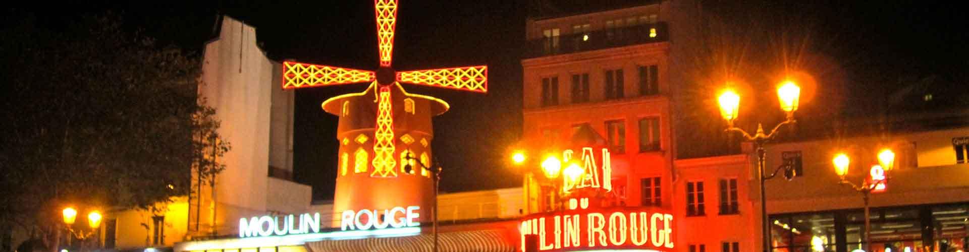 Paris – Albergues próximos a Moulin Rouge. Mapas para Paris, Fotos e Avaliações para cada Albergue em Paris.