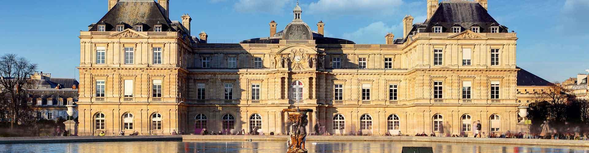 Paris – Albergues próximos a Palais du Luxembourg. Mapas para Paris, Fotos e Avaliações para cada Albergue em Paris.