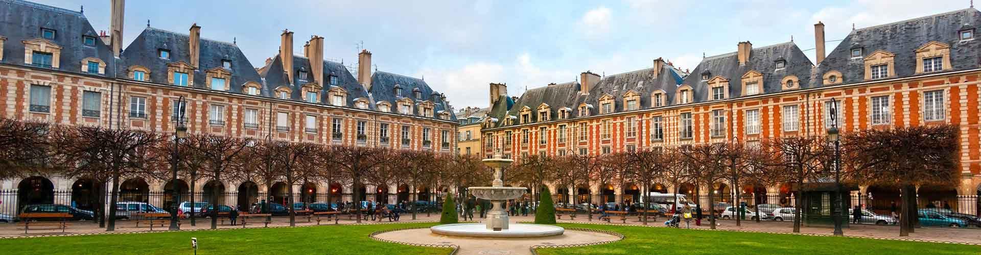 Paris – Albergues próximos a Place des Vosges. Mapas para Paris, Fotos e Avaliações para cada Albergue em Paris.