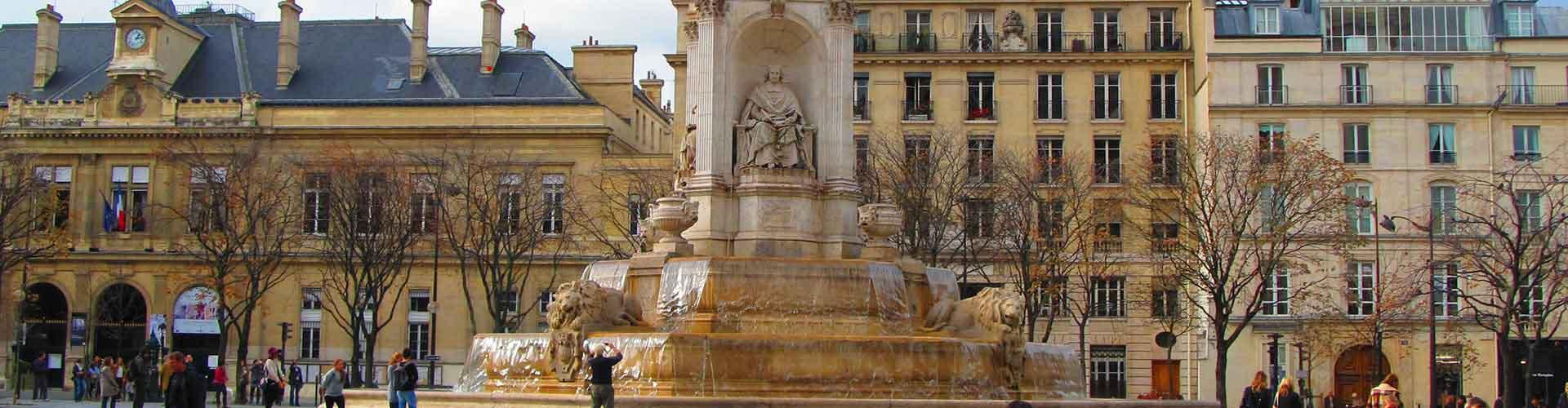 Paris – Albergues próximos a Saint-Sulpice. Mapas para Paris, Fotos e Avaliações para cada Albergue em Paris.