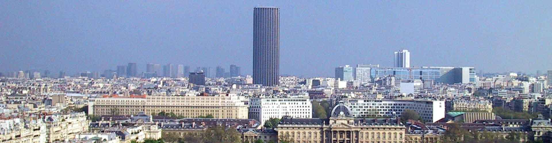 Paris – Albergues próximos a Tour Montparnasse. Mapas para Paris, Fotos e Avaliações para cada Albergue em Paris.
