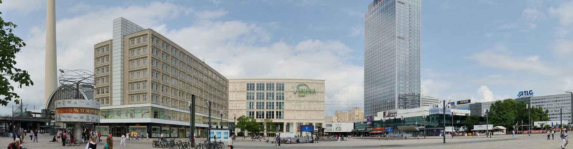 Berlim – Albergues próximos a Alexanderplatz. Mapas para Berlim, Fotos e Avaliações para cada Albergue em Berlim.