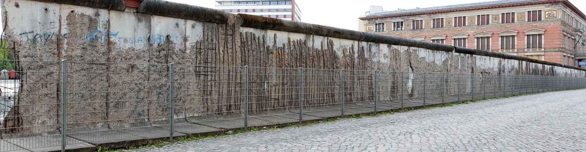 Berlim – Albergues próximos a Muro de Berlim. Mapas para Berlim, Fotos e Avaliações para cada Albergue em Berlim.