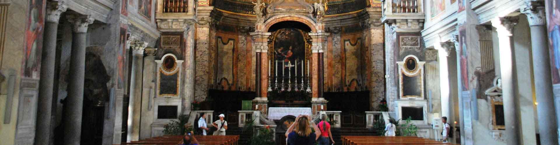 Roma – Albergues próximos a Santa Prassede. Mapas para Roma, Fotos e Avaliações para cada Albergue em Roma.
