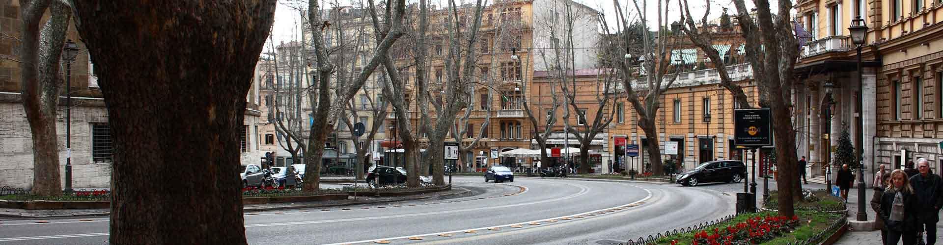 Roma – Albergues próximos a Via Veneto. Mapas para Roma, Fotos e Avaliações para cada Albergue em Roma.