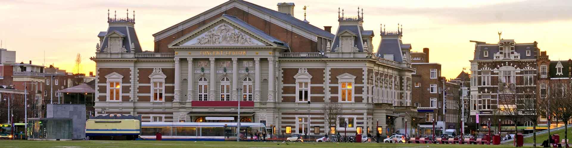 Amsterdam – Albergues próximos a Concertgebouw. Mapas para Amsterdam, Fotos e Avaliações para cada Albergue em Amsterdam.