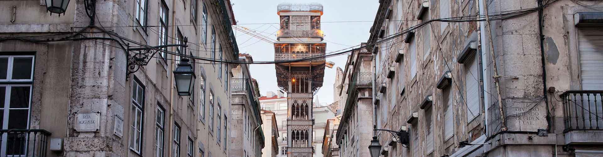 Lisboa – Albergues próximos a Elevador de Santa Justa. Mapas para Lisboa, Fotos e Avaliações para cada Albergue em Lisboa.