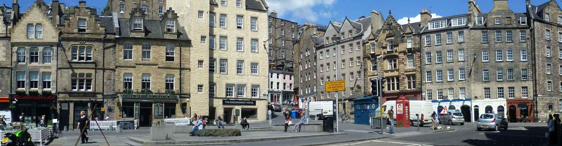 Edimburgo – Albergues no bairro de O Grassmarket . Mapas para Edimburgo, Fotos e Avaliações para cada Albergue em Edimburgo.
